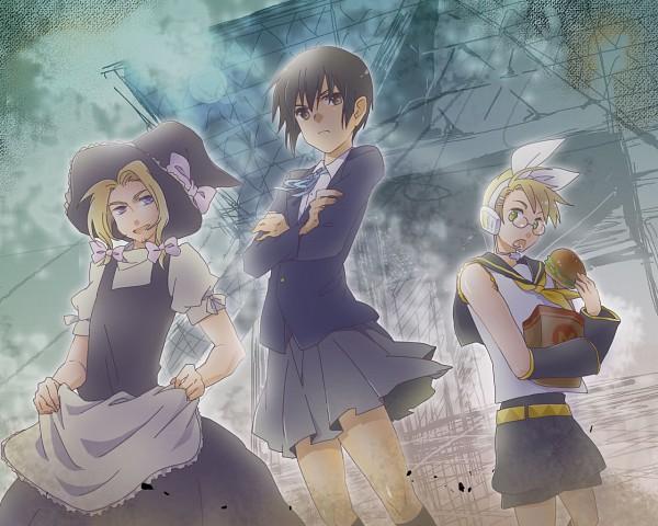 Tags: Anime, Axis Powers: Hetalia, United States, France, Japan, Touhou (Cosplay), Kagamine Rin (Cosplay), K-ON! (Cosplay), Akiyama Mio (Cosplay), Kirisame Marisa (Cosplay), Pixiv, Axis Power Countries, Allied Forces