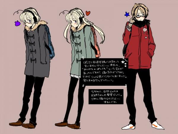 Tags: Anime, Ganega, Axis Powers: Hetalia, Canada (Female), United States, Canada, Nyotalia, Allied Forces