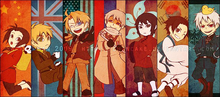 Tags: Anime, Pixiv Id 525194, Chancake, Russia, Prussia, South Korea, China, Gilbird, Hong Kong, Pixiv, Facebook Cover, Fanart, Allied Forces