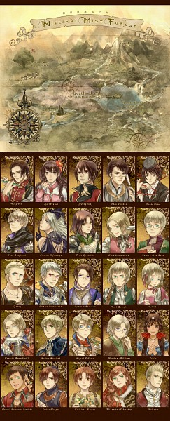 Tags: Anime, Pixiv Id 419830, Axis Powers: Hetalia, Belarus, North Italy, South Italy, China, Austria, Liechtenstein, Lithuania, Poland, Hungary, United Kingdom