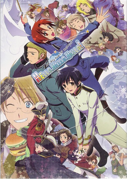 Tags: Anime, Axis Powers: Hetalia, France, United States, Norway, Prussia, Denmark, Japan, Germany, South Italy, China, Spain, Holy Roman Empire