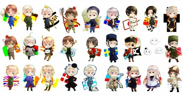 Tags: Anime, Souran-rougi, Axis Powers: Hetalia, Norway, France, Canada, Principality Of Seborga, Belarus (Male), North Italy, South Italy, Belarus, Spain, Mochirisu