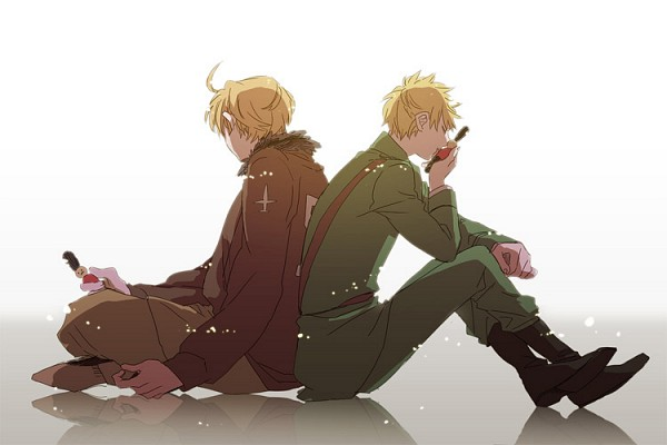 Tags: Anime, Runko, Axis Powers: Hetalia, United Kingdom, United States, Toy Soldier (Toy), Tin Man, Fanart, Allied Forces
