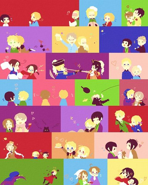 Tags: Anime, Waunko, Axis Powers: Hetalia, North Italy, Finland, Hungary, Austria, Liechtenstein, Lithuania, Sweden, Greece, Hong Kong, United Kingdom
