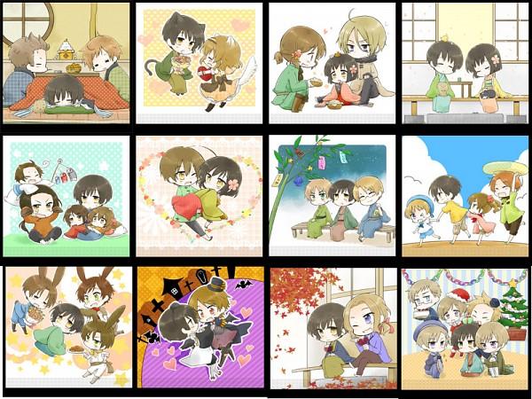 Tags: Anime, Nyosuke, Axis Powers: Hetalia, China, South Italy, Taiwan (Male), Sealand, Japan (Female), Hong Kong, Finland, Belarus (Male), United Kingdom, Iceland