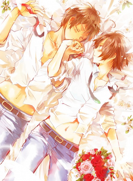 Tags: Anime, Bubblehour, Axis Powers: Hetalia, South Italy, Spain, Wedding Ring, Fanart, Pixiv, Mediterranean Countries, Spamano