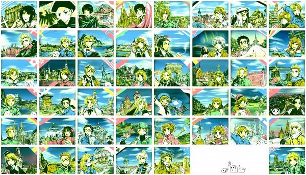 Tags: Anime, Pixiv Id 1130694, Axis Powers: Hetalia, North Italy, Norway, South Korea, Prussia, Finland, Holy Roman Empire, Japan, Latvia, Turkey, China