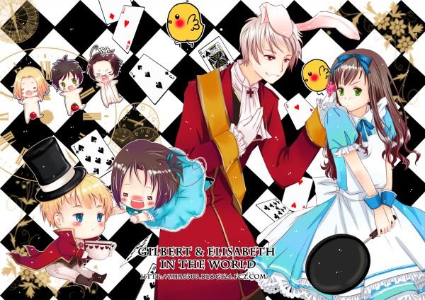 Tags: Anime, Mia0309, Axis Powers: Hetalia, Alice in Wonderland, Holy Roman Empire, Hungary, Chibitalia, France, Spain, Austria, Prussia