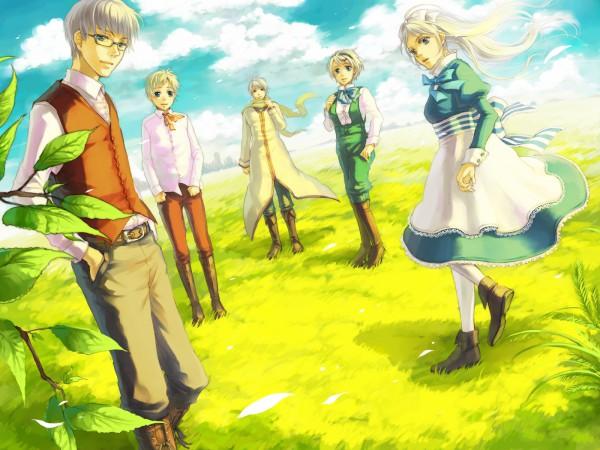 Tags: Anime, Kuronyako, Axis Powers: Hetalia, Russia, Estonia, Belarus, Latvia, Ukraine, Soviet Union, Allied Forces