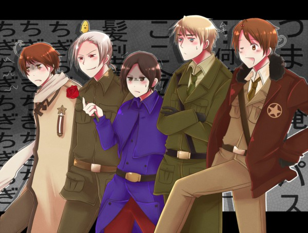 Tags: Anime, Pixiv Id 1383882, Axis Powers: Hetalia, South Italy, Japan, Spain, Germany, North Italy, Prussia, France (Cosplay), Russia (Cosplay), China (Cosplay), United States (Cosplay)