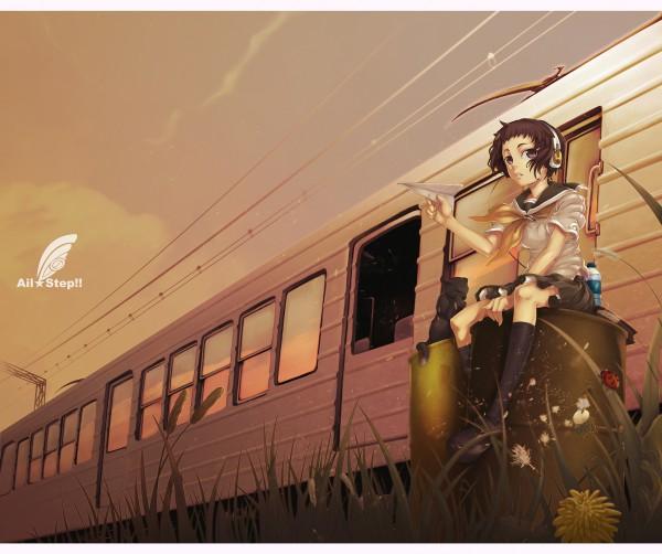 Tags: Anime, Ayaki, Paper Airplane, Pixiv, Original