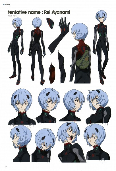 Tags: Anime, Neon Genesis Evangelion, Evangelion 3.0 Theatrical Booklet, Ayanami Rei, Official Art, Character Sheet, Scan, Mobile Wallpaper, Rei Ayanami