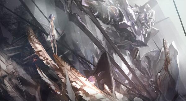 Tags: Anime, LIN+, Neon Genesis Evangelion, Mass Production Eva, Ayanami Rei, Eva 01, Spear of Longinus, Facebook Cover, Pixiv, Wallpaper, Rei Ayanami