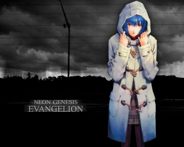 Tags: Anime, Neon Genesis Evangelion, Ayanami Rei, Trench Coat, Edited, Wallpaper, Fanmade Wallpaper, Rei Ayanami