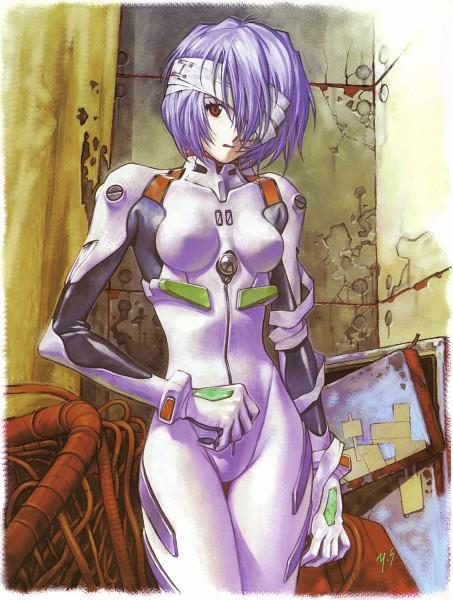 Tags: Anime, Yoshiyuki Sadamoto, Neon Genesis Evangelion, Der Mond, Ayanami Rei, Mobile Wallpaper, Official Art, Scan, Rei Ayanami