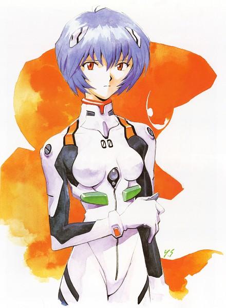 Tags: Anime, Yoshiyuki Sadamoto, Neon Genesis Evangelion, Der Mond, Ayanami Rei, Eva 00, Official Art, Mobile Wallpaper, Scan, Rei Ayanami