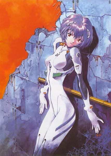 Tags: Anime, Yoshiyuki Sadamoto, Neon Genesis Evangelion, Der Mond, Ayanami Rei, Official Art, Scan, Rei Ayanami