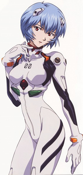 Tags: Anime, Gainax, Neon Genesis Evangelion, Ayanami Rei, Latex, Scan, Official Art, Rei Ayanami