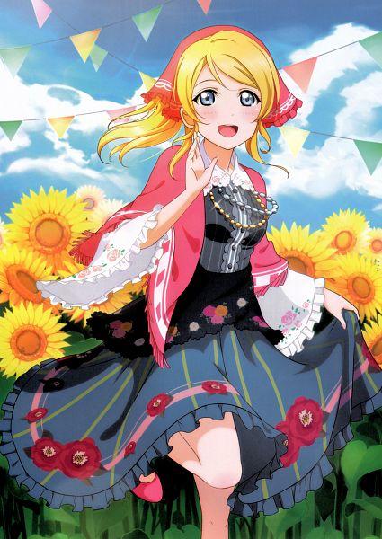 Tags: Anime, KLab, Sunrise (Studio), Love Live!, Love Live! School Idol Festival Official Illustration Book, Love Live! School Idol Festival, Ayase Eri, Mobile Wallpaper, Official Art, Scan