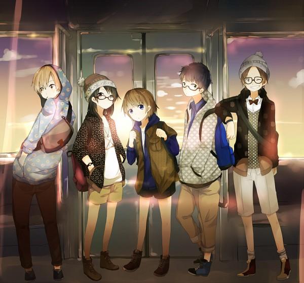 Tags: Anime, Ayase08, Train Interior, Pixiv, Original