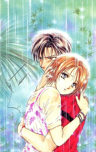 Tags: Anime, Watase Yuu, Ayashi no Ceres, Aogiri Yuuhi, Toya (AnC), Mikage Aya, Manga Cover, Scan, Official Art