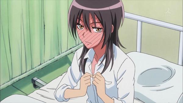 Tags: Anime, Kaichou wa Maid-sama!, Ayuzawa Misaki, Hospital, Screenshot