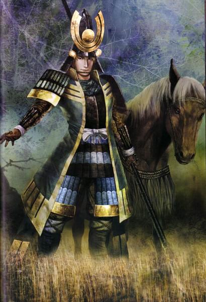 Tags: Anime, Koei, Sengoku Musou, Azai Nagamasa (Sengoku Musou), Official Art, Scan