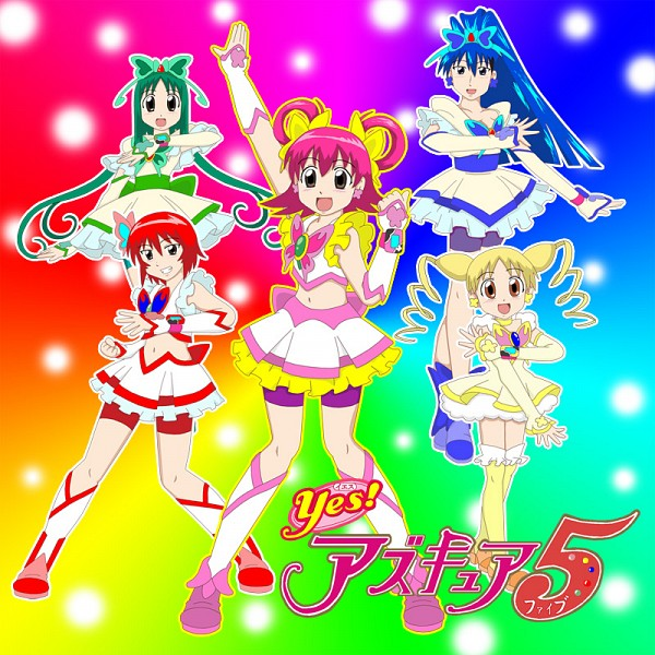 Tags: Anime, Yes! Precure 5, Azumanga Daioh, Kagura (Azumanga Daioh), Sakaki, Cure Lemonade, Kasuga