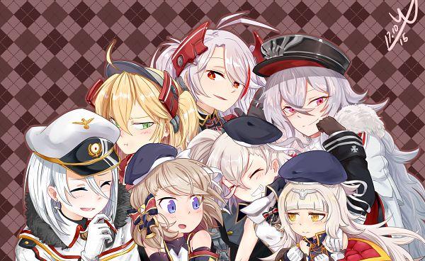 Tags: Anime, Pixiv Id 9721621, Azur Lane, Z23 (Azur Lane), Admiral Hipper (Azur Lane), Prinz Eugen (Azur Lane), Graf Zeppelin (Azur Lane), Z1 (Azur Lane), Tirpitz (Azur Lane), Z46 (Azur Lane)