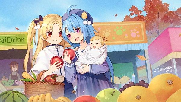 Tags: Anime, Pixiv Id 2874136, Azur Lane, Mutsuki (Azur Lane), Kisaragi (Azur Lane), Cleveland (Azur Lane), Helena (Azur Lane), Fanart, Fanart From Pixiv, Pixiv, Wallpaper