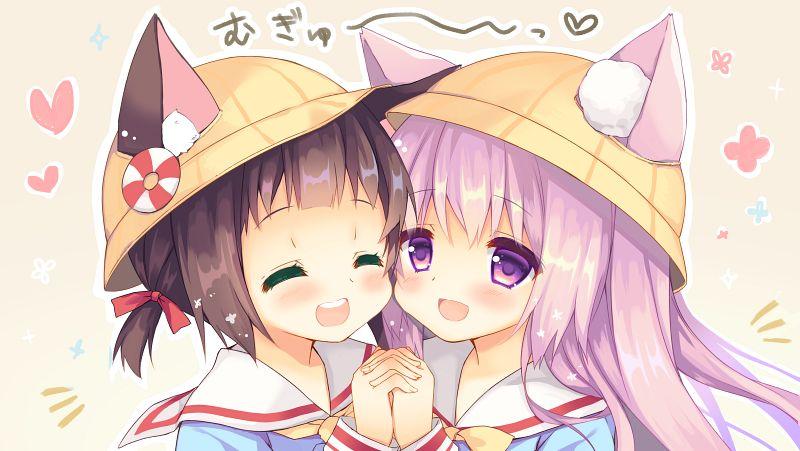 Tags: Anime, Purinpurin, Azur Lane, Mutsuki (Azur Lane), Kisaragi (Azur Lane)