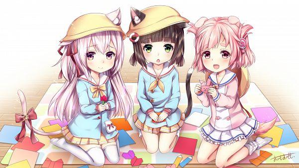 Tags: Anime, Pixiv Id 6489348, Azur Lane, Kisaragi (Azur Lane), Uzuki (Azur Lane), Mutsuki (Azur Lane), Wallpaper