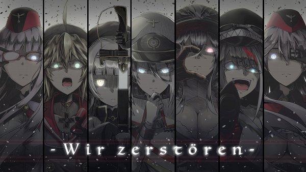 Tags: Anime, Pixiv Id 4076527, Azur Lane, Graf Zeppelin (Azur Lane), Z46 (Azur Lane), Gneisenau (Azur Lane), Deutschland (Azur Lane), Scharnhorst (Azur Lane), Admiral Hipper (Azur Lane), Tirpitz (Azur Lane)