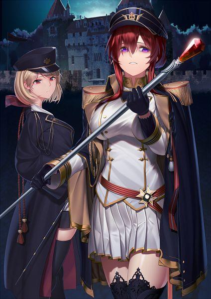 Tags: Anime, Pixiv Id 24577669, Azur Lane, Prince of Wales (Azur Lane), Monarch (Azur Lane), Sakura Elegance, Fanart