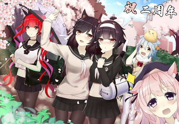 Tags: Anime, Pixiv Id 6461092, Azur Lane, Kisaragi (Azur Lane), Ark Royal (Azur Lane), Fubuki (Azur Lane), Takao (Azur Lane), Honolulu (Azur Lane), Atago (Azur Lane)