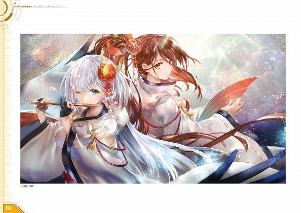 Tags: Anime, Yostar, Azur Lane - First Anniversary Art Collection, Azur Lane, Zuikaku (Azur Lane), Shoukaku (Azur Lane), Artist Request, Official Art
