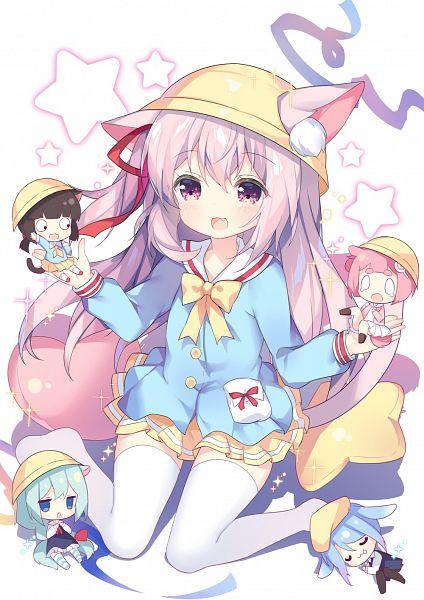 Tags: Anime, Tsukimi (Xiaohuasan), Yostar, Azur Lane, Minazuki (Azur Lane), Mikazuki (Azur Lane), Mutsuki (Azur Lane), Kisaragi (Azur Lane), Uzuki (Azur Lane), Official Art