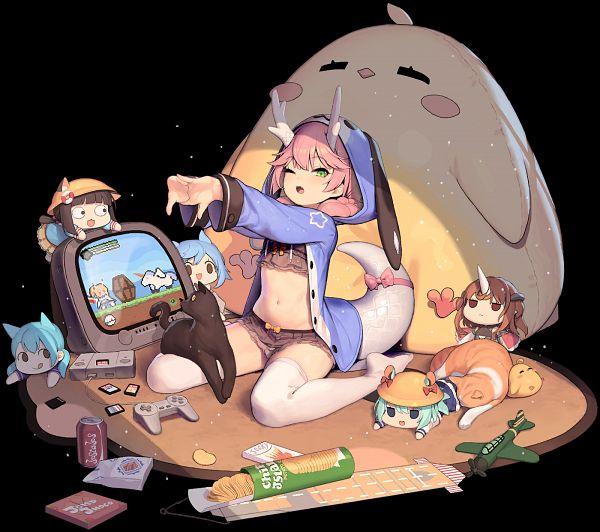 Tags: Anime, Tsliuyixin, Yostar, Azur Lane, Mutsuki (Azur Lane), Ryuujou (Azur Lane), Aoba (Azur Lane), Mogami (Azur Lane), Ayanami (Azur Lane), Fubuki (Azur Lane), Mikazuki (Azur Lane), Manjuu, Official Art