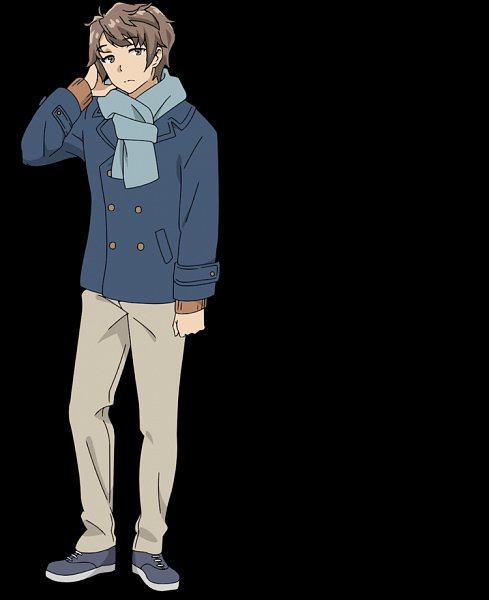 Tags: Anime, Tamura Satomi, CloverWorks, Seishun Buta Yarou Series, Seishun Buta Yarou wa Yume Miru Shoujo no Yume wo Minai, Azusagawa Sakuta, Official Art