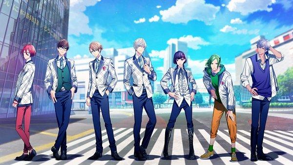 Tags: Anime, B-Project, Onzai Momotaro, Kitakado Tomohisa, Osari Hikaru, Nome Tatsuhiro, Sekimura Mikado, Masunaga Kazuna, Korekuni Ryuuji, King Of Castle, Wallpaper, CG Art