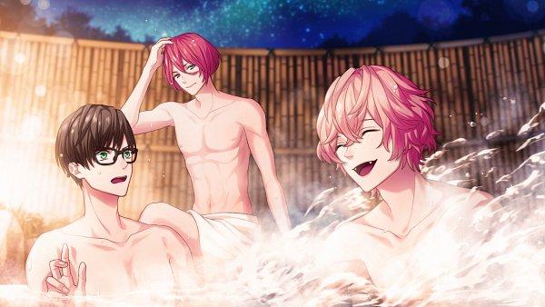 Tags: Anime, B-Project, Onzai Momotaro, Sekimura Mikado, Ashuu Yuuta, Wallpaper, CG Art