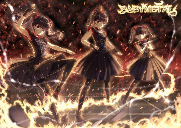 Tags: Anime, Kazeno, Kikuchi Moa, Nakamoto Suzuka, Mizuno Yui, Fanart, BABYMETAL