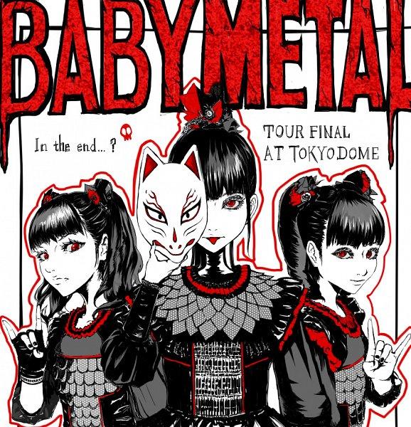 Tags: Anime, Pixiv Id 174101, Nakamoto Suzuka, Mizuno Yui, Kikuchi Moa, Fox Handsign, Fanart From Pixiv, Pixiv, Fanart, BABYMETAL