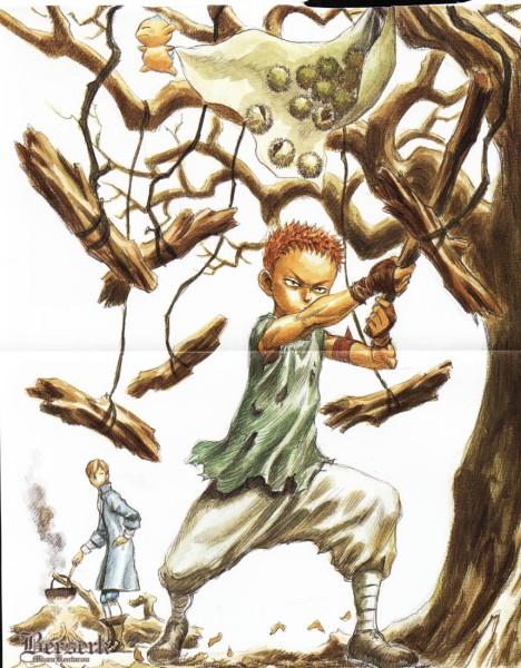 Tags: Anime, Miura Kentarou, BERSERK (Kentaro Miura), Serpico (BERSERK), Isidro (BERSERK), Puck (BERSERK), Official Art, Scan
