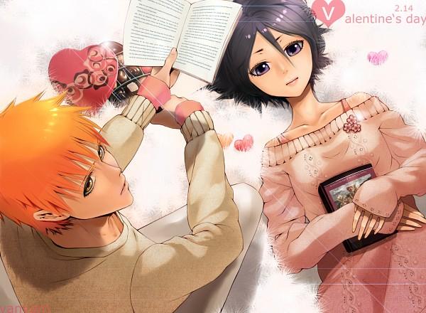 Tags: Anime, Tr Dan, BLEACH, Kuchiki Rukia, Kurosaki Ichigo, PNG Conversion, Fanart, Pixiv, BLEACH: After Timeskip, IchiRuki