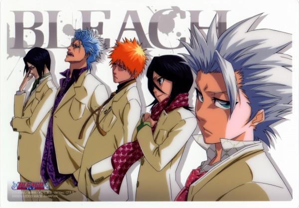 Tags: Anime, Kubo Tite, BLEACH, Ishida Uryuu, Grimmjow Jeagerjaques, Kuchiki Rukia, Hitsugaya Toushirou, Kurosaki Ichigo, Scan, Official Art, Gotei 13, Espada