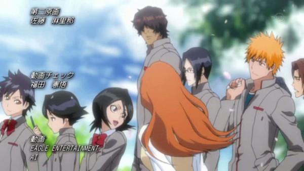 """Tags: Anime, BLEACH, Kojima Mizuiro, Inoue Orihime, Asano Keigo, Arisawa Tatsuki, Kuchiki Rukia, Ishida Uryuu, Kurosaki Ichigo, Yasutora """"Chad"""" Sado, Screenshot, Gotei 13"""