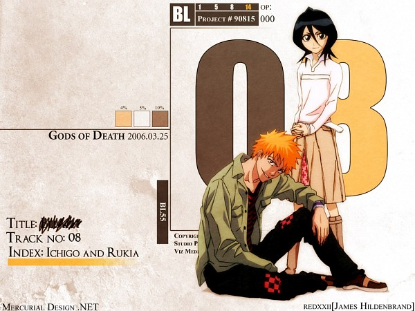 Tags: Anime, BLEACH, Kuchiki Rukia, Kurosaki Ichigo, Wallpaper, Gotei 13
