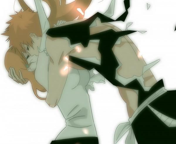 Tags: Anime, Pixiv Id 3356083, BLEACH, Inoue Orihime, Kurosaki Ichigo, Fanart From Pixiv, Fanart, Pixiv, IchiHime
