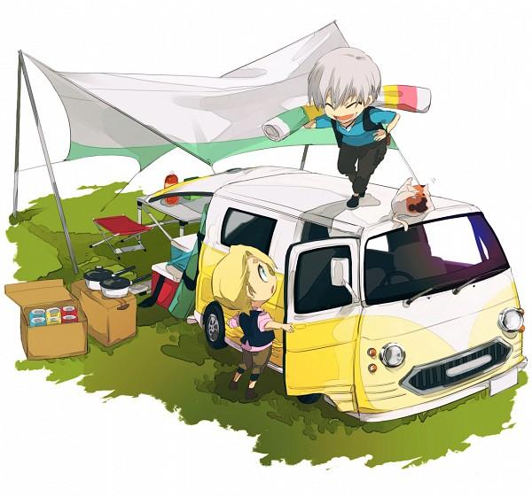 Tags: Anime, Anbe (Pixiv223852), BLEACH, Kira Izuru, Ichimaru Gin, Camping, Pixiv, Fanart, Fanart From Pixiv, Gotei 13
